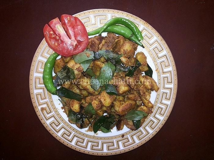 Koorka thoran | Mezhukkupuratti | Chinese Potato Stir Fry