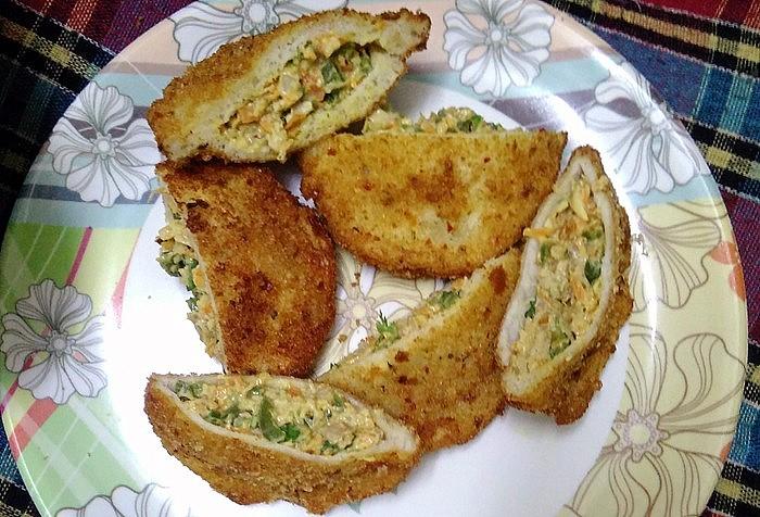Chicken pockets recipe with leftover Chicken