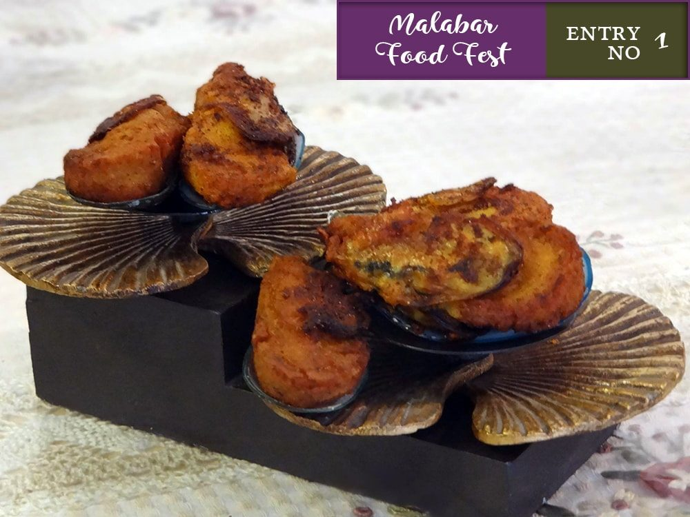 Spicy stuffed and fried Mussels-Kallumakaya nirachathu